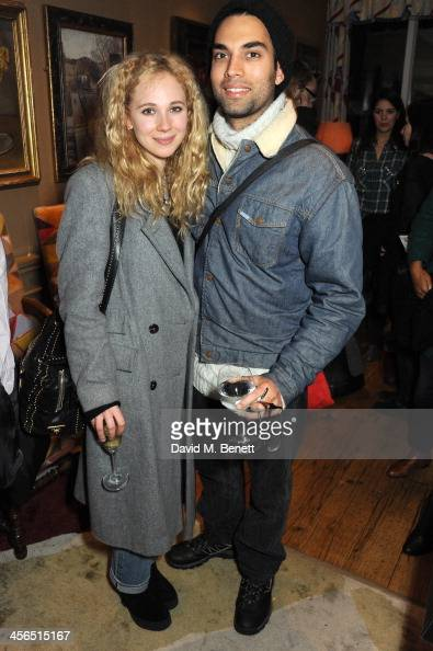 Actors Juno Temple and James Floyd attend a private screening of 'American Hustle' hosted by director David O Russell at Charlotte Street Hotel on...