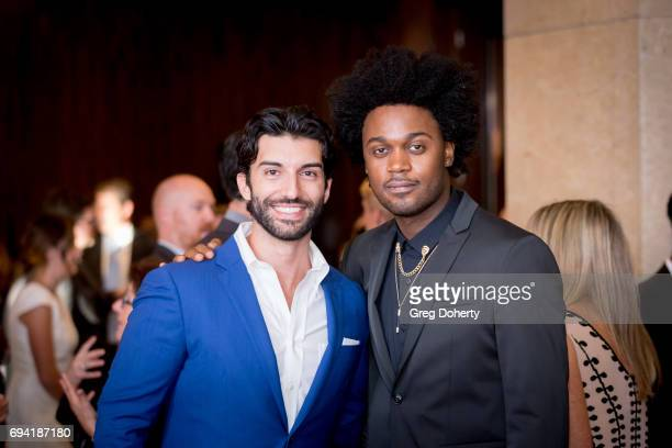 Actors Justin Baldoni and Echo Kellum attend the 14th Annual Brass Ring Awards Dinner at The Beverly Hilton Hotel on June 8 2017 in Beverly Hills...