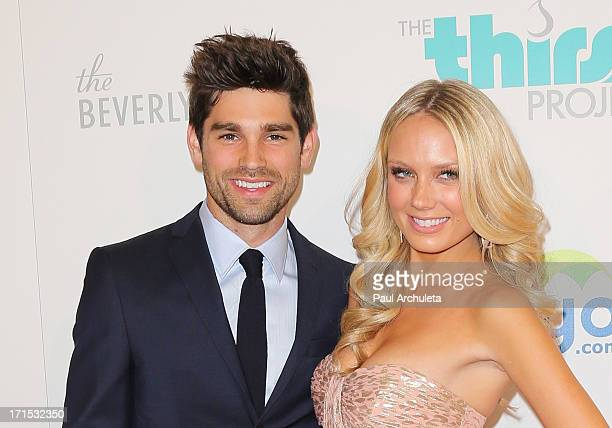 Actors Justin Gaston and Melissa Ordway attend the 4th annual Thirst Gala at The Beverly Hilton Hotel on June 25 2013 in Beverly Hills California