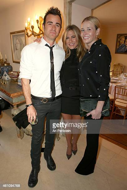Actors Justin Theroux and Jennifer Aniston and comedian Chelsea Handler attend as Arianna Huffington hosts a special lunch at home for Jennifer...
