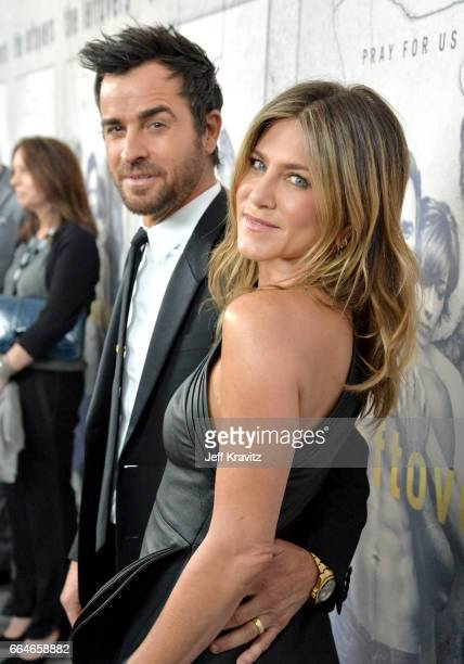Actors Justin Theroux and Jennifer Aniston attend HBO's 'The Leftovers' season 3 premiere and after party at Avalon Hollywood on April 4 2017 in Los...