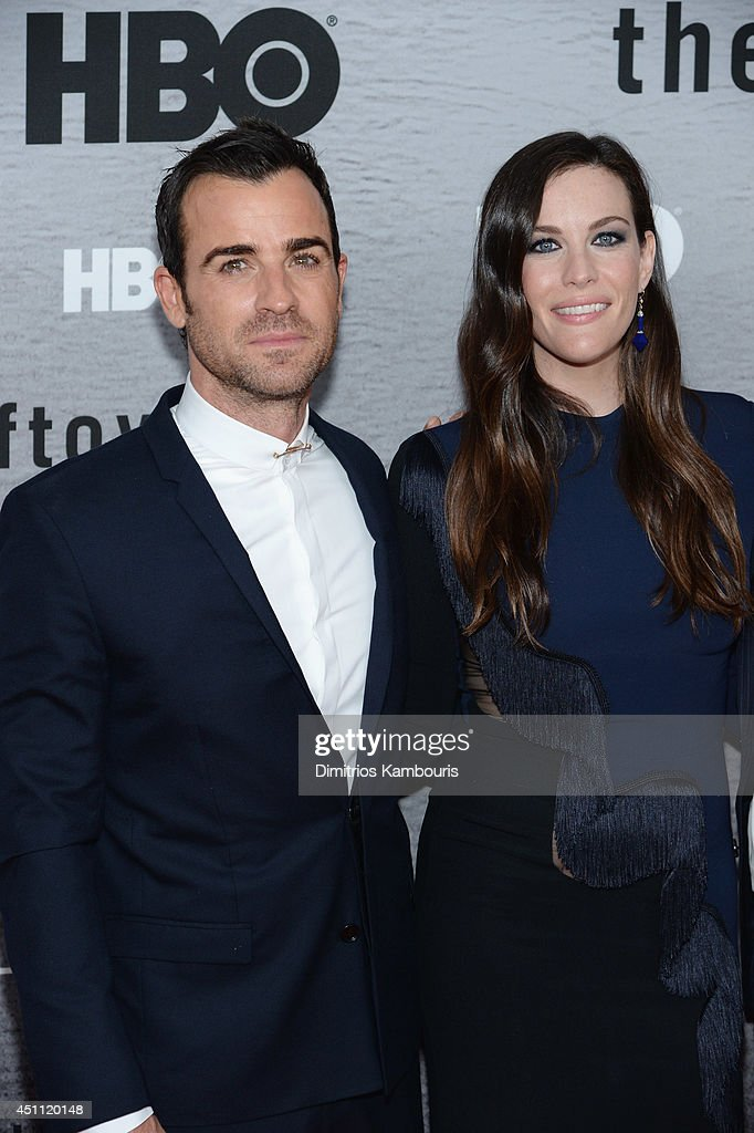 Actors <a gi-track='captionPersonalityLinkClicked' href=/galleries/search?phrase=Justin+Theroux&family=editorial&specificpeople=240634 ng-click='$event.stopPropagation()'>Justin Theroux</a> and <a gi-track='captionPersonalityLinkClicked' href=/galleries/search?phrase=Liv+Tyler&family=editorial&specificpeople=202094 ng-click='$event.stopPropagation()'>Liv Tyler</a> attend 'The Leftovers' premiere at NYU Skirball Center on June 23, 2014 in New York City.