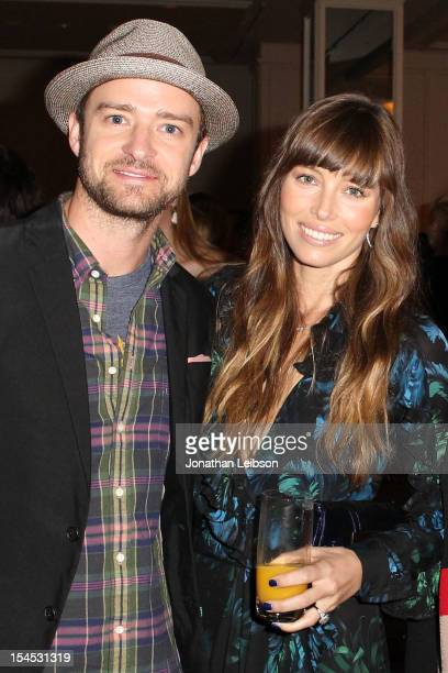 Actors Justin Timberlake and Jessica Biel attend the Variety's 4th Annual Power Of Women Event Presented By Lifetime at the Beverly Wilshire Four...