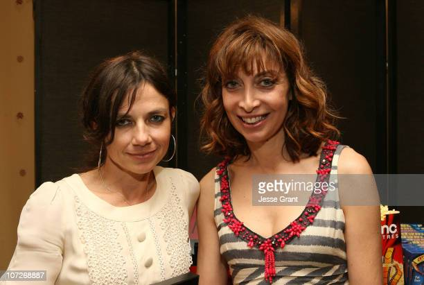Actors Justine Bateman and Illeana Douglas at the On3 Productions Lounge at Film Independent's 2008 Independent Spirit Awards at the Santa Monica...