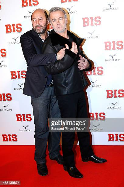 Actors Kad Merad and Franck Dubosc attend the 'Bis' Movie Paris Premiere at Cinema Gaumont Capucine on February 10 2015 in Paris France
