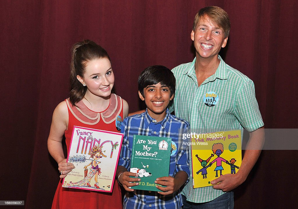 Actors Kaitlyn Dever, Karan Brar and Jack McBrayer attend the Screen Actors Guild Foundation 20 Years Of BookPALS celebration at West Hollywood City Council Chamber on May 11, 2013 in West Hollywood, California.