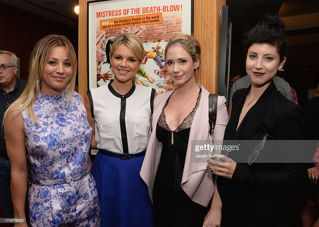 Actors Kaley Cuoco, Ali Fedotowsky, Ashley Jones and Briana Cuoco attend the afterparty for the premiere of AFI & Sony Picture Classics' 'Blue Jamsine' at the AMPAS Samuel Goldwyn Theatre on July 24, 2013 in Beverly Hills, California.