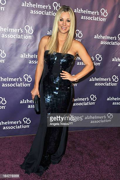 Actors Kaley Cuoco and Johnny Galecki arrive at the 21st Annual 'A Night At Sardi's' to benefit the Alzheimer's Association at The Beverly Hilton...