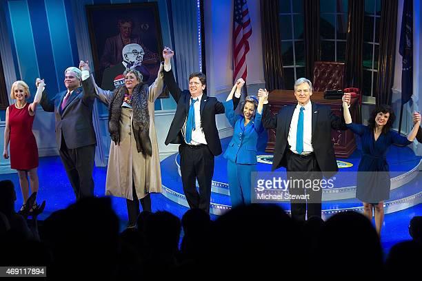 Actors Kara Guy John Treacy Egan Judy Gold Duke Lafoon Kerry Butler Tom Galantich and Veronica J Kuehn attend 'Clinton The Musical' Opening Night at...