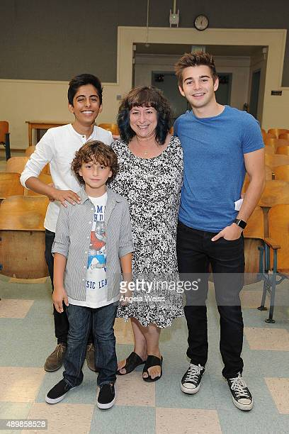 Actors Karan Brar August Maturo Roberta Barabash and Jack Griffo attend the SAG Foundation and Rise Up Foundation Read to Me Challenge at Coldwater...