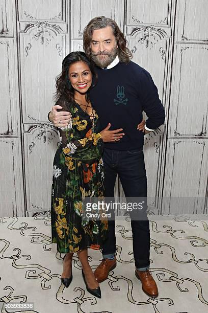 Actors Karen David and Timothy Omundson take part in AOL BUILD Series Timothy Omundson and Karen David 'Galavant' at AOL Studios on January 7 2016 in...