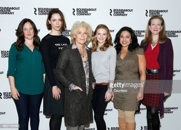 Actors Karen Walsh Rebecca Hall Suzanne Bertish Ashley Bell MariaChristina Oliveras and Henny Russell attend the photo call for 'Machincal' on...