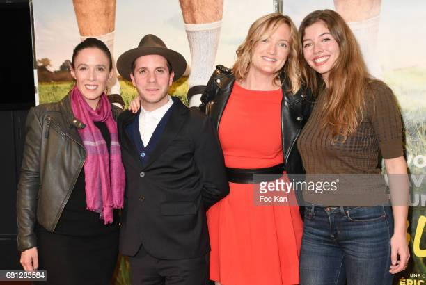 Actors Karine Valmer Eddy Leduc Dorothee Pousseo and Celia Rosich attend 'Problemos' Paris Premiere At UGC Cine Cite Les Halles on May 9 2017 in...