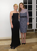 Actors Karine Vanasse and Emily VanCamp attend the 24th Annual Environmental Media Awards presented by Toyota and Lexus at Warner Bros Studio on...