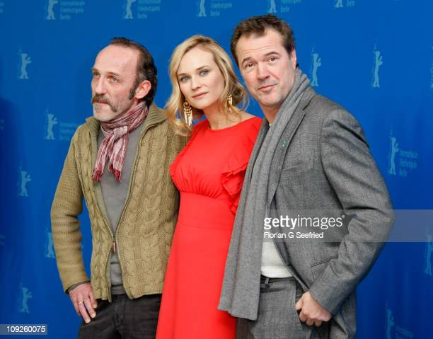 Actors Karl Markovics Sebastian Koch and Diane Kruger attend the 'Unknown' Photocall during day nine of the 61st Berlin International Film Festival...