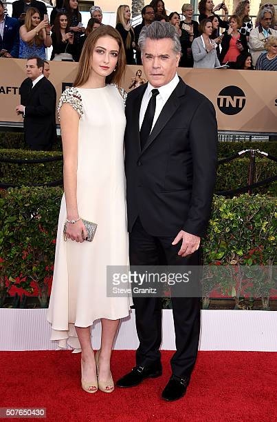 Actors Karsen Liotta and Ray Liotta attend the 22nd Annual Screen Actors Guild Awards at The Shrine Auditorium on January 30 2016 in Los Angeles...