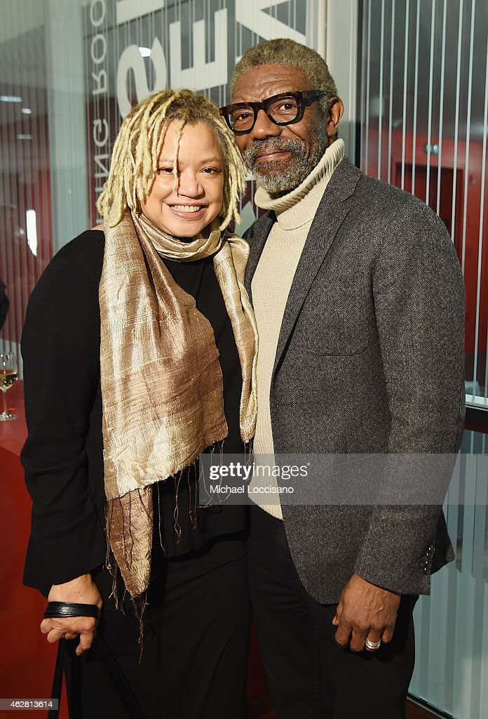 Actors Kasi Lemmons and Vondie CurtisHall attend the opening night of the 2015 Athena Film Festival at Barnard College on February 5 2015 in New York...