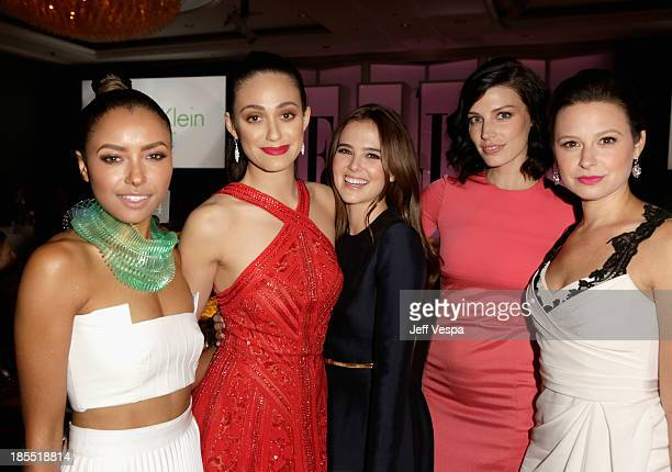Actors Kat Graham Emmy Rossum Zoey Deutch Jessica Pare and Katie Lowes attend ELLE's 20th Annual Women In Hollywood Celebration at Four Seasons Hotel...