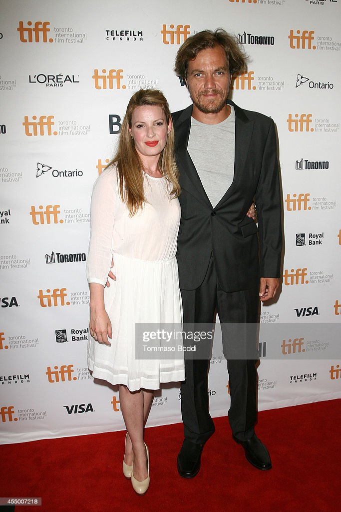 Actors Kate Arrington and Michael Shannon attend the '99 Homes' premiere during the 2014 Toronto International Film Festival at Princess of Wales...