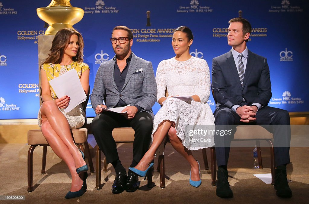 Actors Kate Beckinsale Jeremy Piven Paula Patton and Peter Krause attend the 72nd Annual Golden Globe Awards Nominations Announcement at The Beverly...