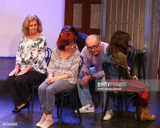Actors Kate Benton Mindy Sterling John Paragon Timothy Stack and Sherri Stoner perform onstage at the The Groundlings Theatre's celebration of their...