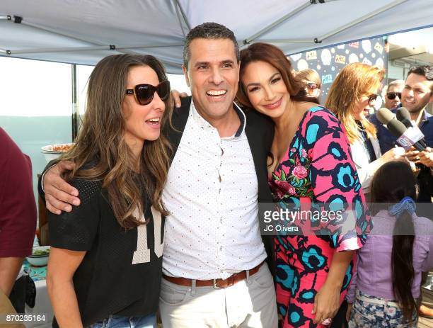 Actors Kate Del Castillo Marco Antonio Regil and Patricia De Leon attend PETA Latino's 'PETA Food Fight Vegan Chilaquiles Edition' at PETA's Bob...