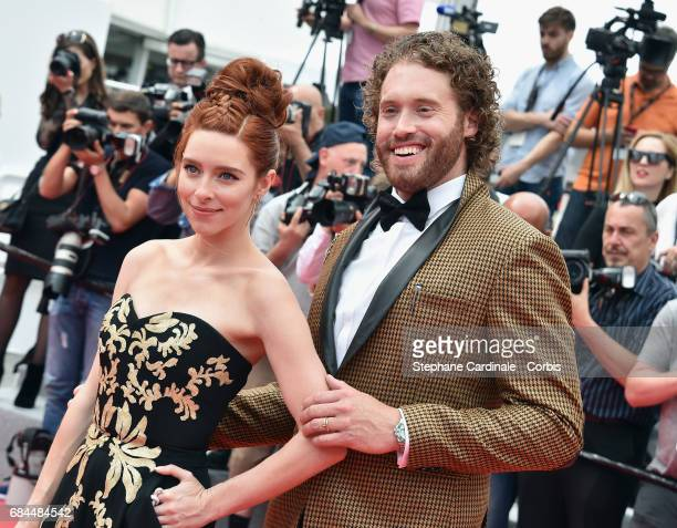 Actors Kate Gorney and T J Miller attend the 'Wonderstruck' screening during the 70th annual Cannes Film Festival at Palais des Festivals on May 18...