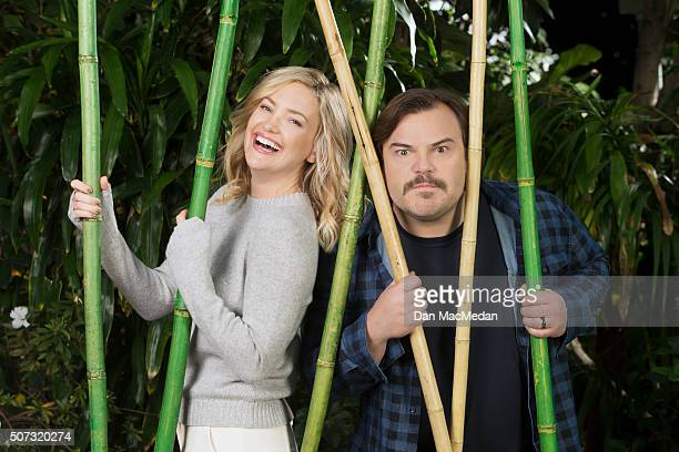 Actors Kate Hudson and Jack Black are photographed for USA Today on January 15 2016 in Los Angeles California
