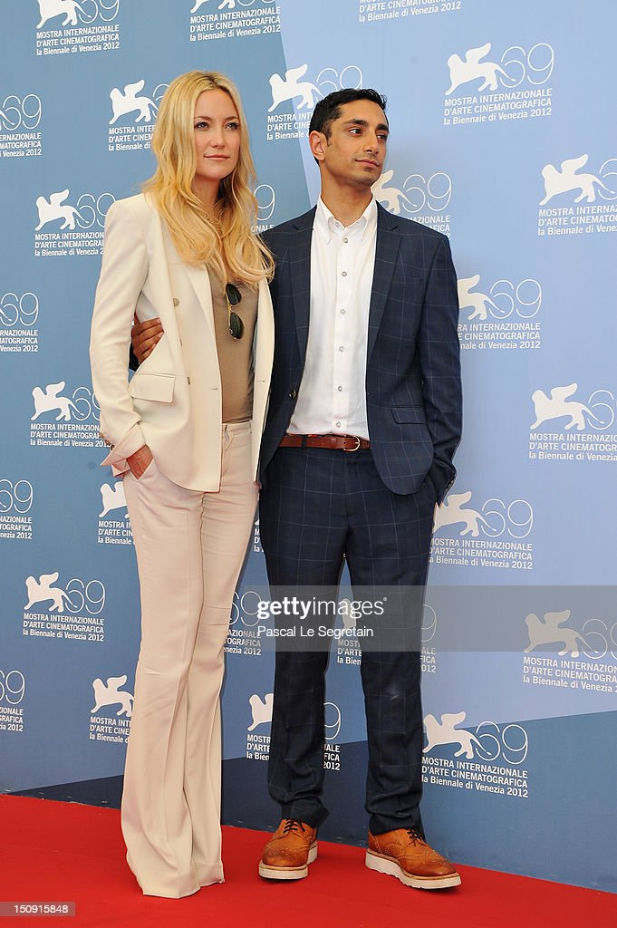 Actors Kate Hudson and Riz Ahmed attend 'The Reluctant Fundamentalist' Photocall during the 69th Venice International Film Festival at Palazzo del Casino on August 29, 2012 in Venice, Italy.