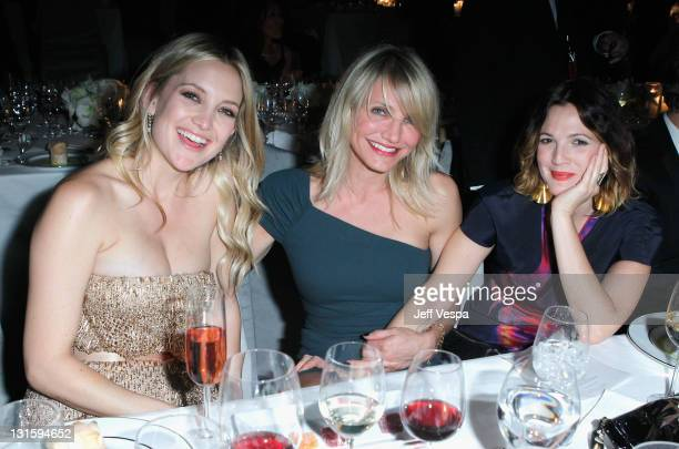 Actors Kate Hudson Cameron Diaz and Drew Barrymore attend LACMA Art Film Gala Honoring Clint Eastwood and John Baldessari Presented By Gucci at Los...