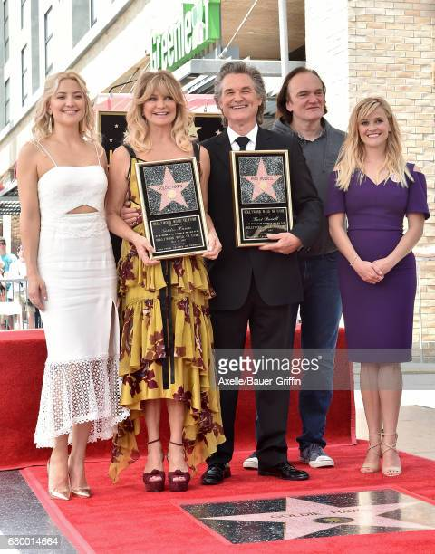 Actors Kate Hudson Goldie Hawn Kurt Russell director Quentin Tarantino and actress Reese Witherspoon attend the ceremony honoring Goldie Hawn and...
