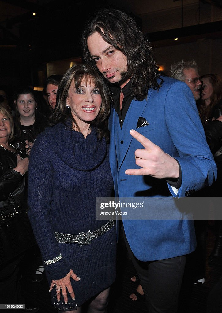 Actors Kate Linder and Constantine Maroulis attend the opening night after party of 'Jekyll & Hyde' held at Beso on February 12, 2013 in Hollywood, California.