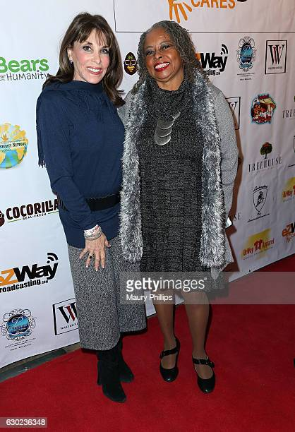 Actors Kate Linder and Reatha Grey arrive at eZWayCares Community Santa Toy Drive on December 18 2016 in Los Angeles California