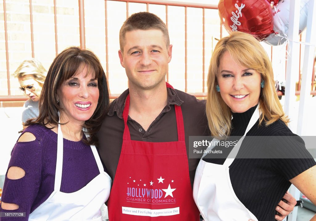 Actors Kate Linder Ben McKenzie and Erin Murphy attend the Hollywood Chamber of Commerce salute to the Hollywood police and fire department on...