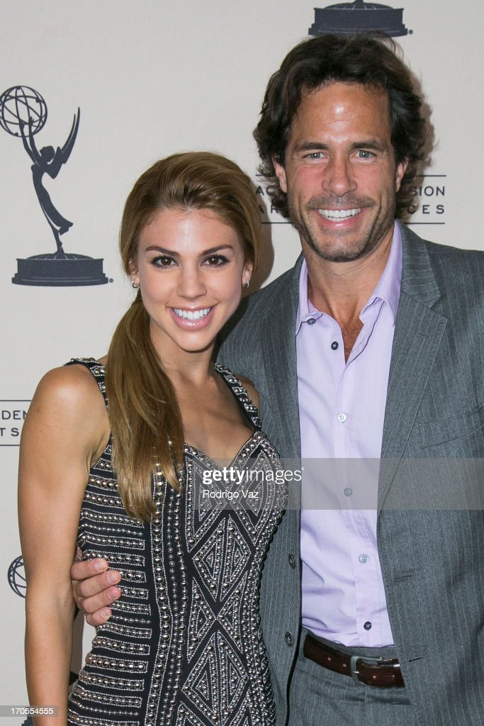 Actors Kate Mansi (L) and Shawn Christian arrive at the 40th Annual Daytime Emmy Nominees Cocktail Reception at Montage Beverly Hills on June 13, 2013 in Beverly Hills, California.
