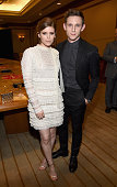 """Actors Kate Mara and Jamie Bell attend 2015 Will Rogers """"Pioneer of the Year"""" Dinner Honoring Jim Gianopulos at Caesars Palace during CinemaCon the..."""
