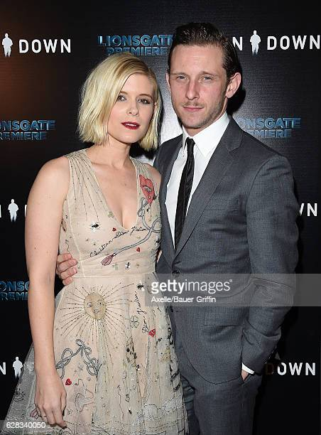 Actors Kate Mara and Jamie Bell attend the premiere of 'Man Down' at ArcLight Hollywood on November 30 2016 in Hollywood California
