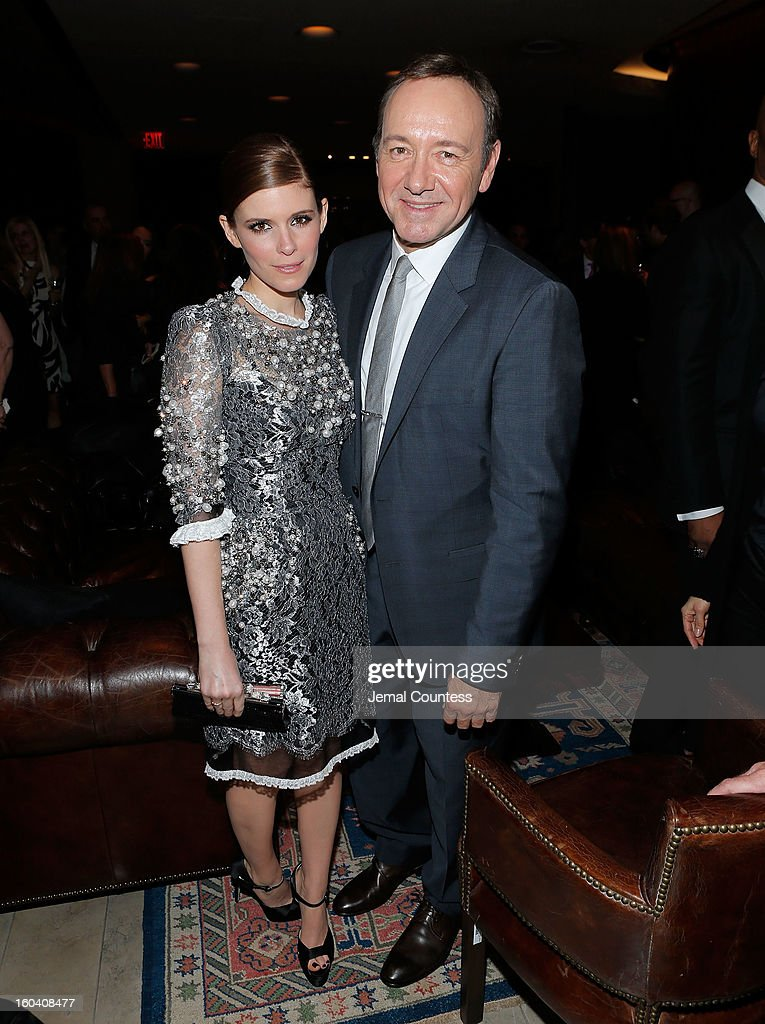 Actors Kate Mara and Kevin Spacey attend Netflix's 'House Of Cards' New York premiere after party at Alice Tully Hall on January 30, 2013 in New York City.