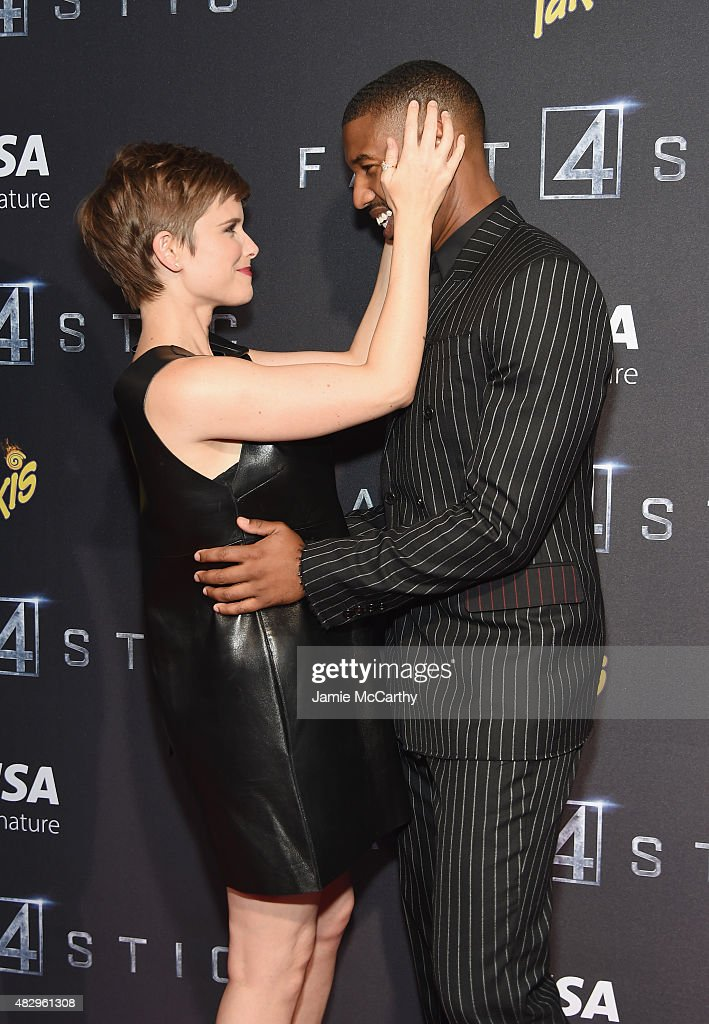 Actors Kate Mara and Michael B Jordan attend the New York premiere of 'Fantastic Four' at Williamsburg Cinemas on August 4 2015 in New York City