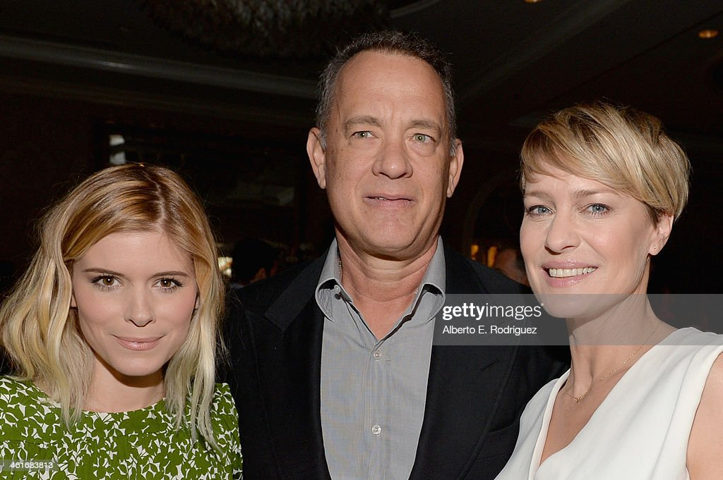 Actors <a gi-track='captionPersonalityLinkClicked' href=/galleries/search?phrase=Kate+Mara&family=editorial&specificpeople=544680 ng-click='$event.stopPropagation()'>Kate Mara</a>, <a gi-track='captionPersonalityLinkClicked' href=/galleries/search?phrase=Tom+Hanks&family=editorial&specificpeople=201790 ng-click='$event.stopPropagation()'>Tom Hanks</a> and <a gi-track='captionPersonalityLinkClicked' href=/galleries/search?phrase=Robin+Wright&family=editorial&specificpeople=207147 ng-click='$event.stopPropagation()'>Robin Wright</a> attend the 14th annual AFI Awards Luncheon at the Four Seasons Hotel Beverly Hills on January 10, 2014 in Beverly Hills, California.