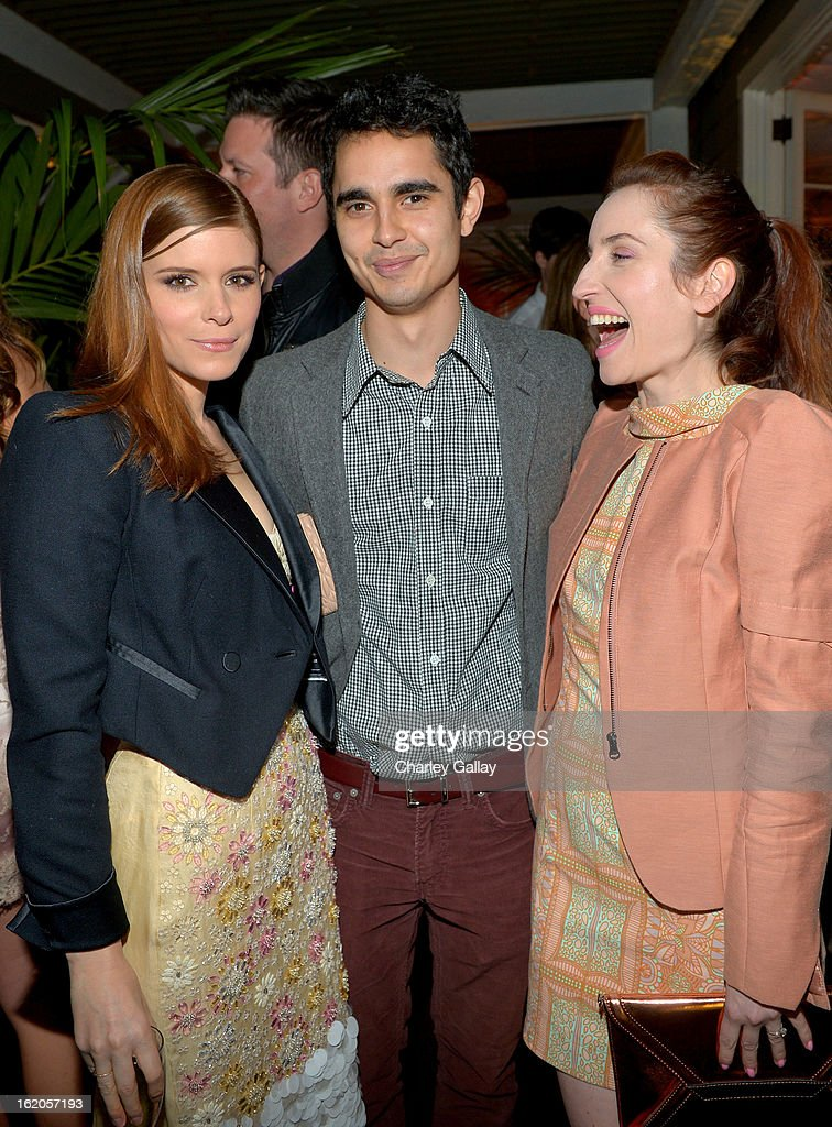 "Actors <a gi-track='captionPersonalityLinkClicked' href=/galleries/search?phrase=Kate+Mara&family=editorial&specificpeople=544680 ng-click='$event.stopPropagation()'>Kate Mara</a> wearing Juicy Couture, <a gi-track='captionPersonalityLinkClicked' href=/galleries/search?phrase=Max+Minghella&family=editorial&specificpeople=777019 ng-click='$event.stopPropagation()'>Max Minghella</a> and <a gi-track='captionPersonalityLinkClicked' href=/galleries/search?phrase=Zoe+Lister-Jones&family=editorial&specificpeople=655703 ng-click='$event.stopPropagation()'>Zoe Lister-Jones</a> attend Vanity Fair and Juicy Couture's Celebration of the 2013 ""Vanities"" Calendar hosted by Vanity Fair West Coast Editor Krista Smith and actress Olivia Munn in support of the Regional Food Bank of Oklahoma, a member of Feeding America, at the Chateau Marmont on February 18, 2013 in Los Angeles, California."
