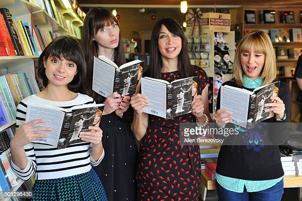 Actors Kate Micucci Alexi Wasser Illeana Douglas and Stephanie Drake attend the book signing of Illeana Douglas' book 'I Blame Dennis Hopper And...