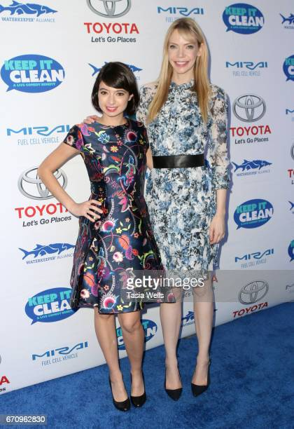 Actors Kate Micucci and Riki Lindhome attend Keep it Clean Live Comedy Benefit for Waterkeeper Alliance at Avalon Hollywood on April 20 2017 in Los...