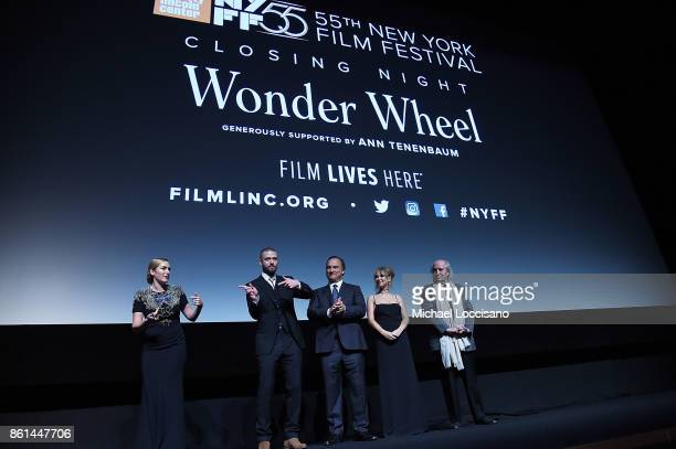 Actors Kate Winslet Justin Timberlake Jim Belushi and Juno Temple and cinematographer Vittorio Storaro introduce the screening of 'Wonder Wheel'...