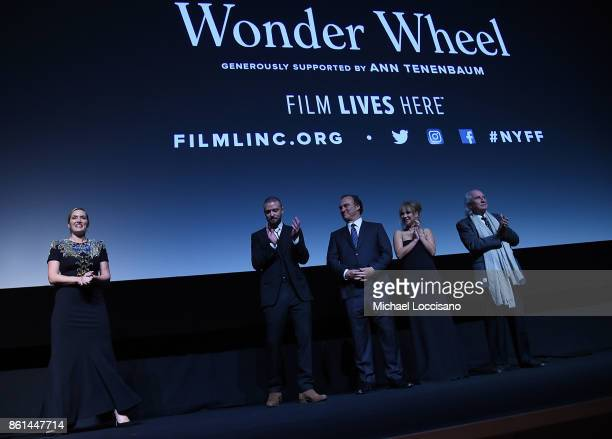 Actors Kate Winslet Justin Timberlake Jim Belushi and Juno Temple and cinematographer Vittorio Storaro introduce the screening of 'Wonder Wheel'...