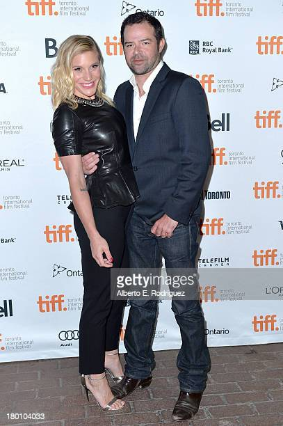 Actors Katee Sackhoff and Rory Cochrane attend the 'Oculus' premiere during the 2013 Toronto International Film Festival at Ryerson Theatre on...