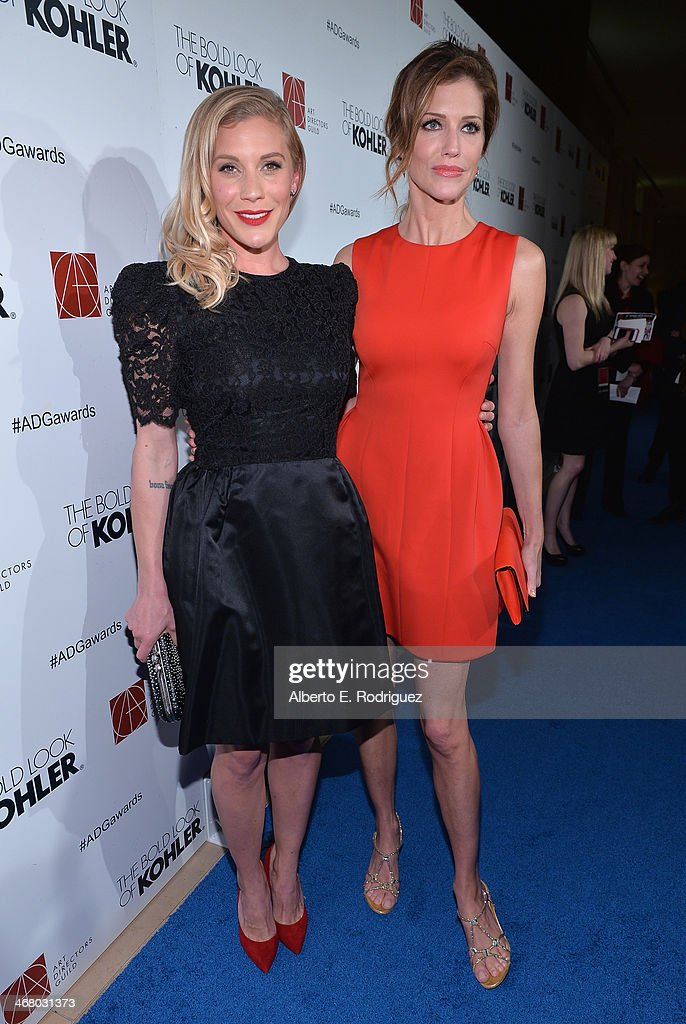 Actors Katee Sackhoff and Tricia Helfer arrive to the 18th Annual Art Directors Guild Exellence In Production Design Awards at The Beverly Hilton Hotel on February 8, 2014 in Beverly Hills, California.