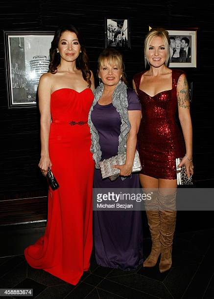 Actors Katherine Castro Charlene Tilton and Cherish Lee attend Katherine Castro Receives Hollywood FAME Awards at Avalon on November 12 2014 in...