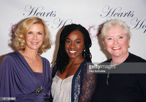 Actors Katherine Kelly Lang Kristolyn Lloyd and Susan Flannery arrives at the 'Hearts For Hope' charity fashion show at The Four Seasons Hotel on...