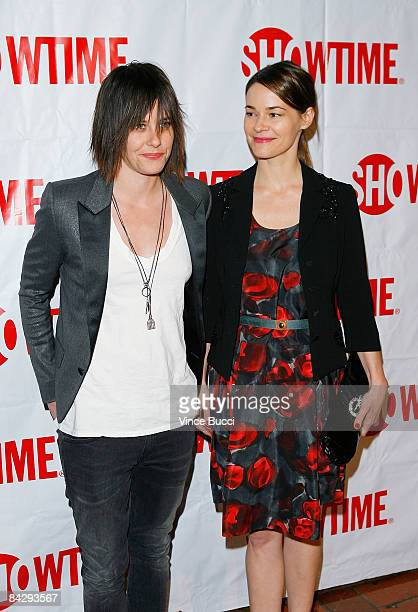 Actors Katherine Moennig and Leisha Hailey attend the CBS and Showtime Network's Winter Television Critics Association Party on January 14 2009 in...